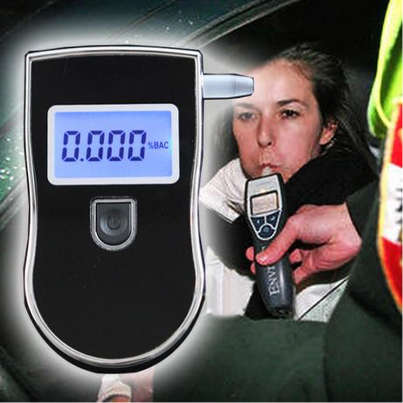 3pcs/Lot 2015 Prefessional Police Digital Breath Alcohol Tester Breathalyzer with 5pcs mouthpieces Freeshipping Dropshipping(China (Mainland))