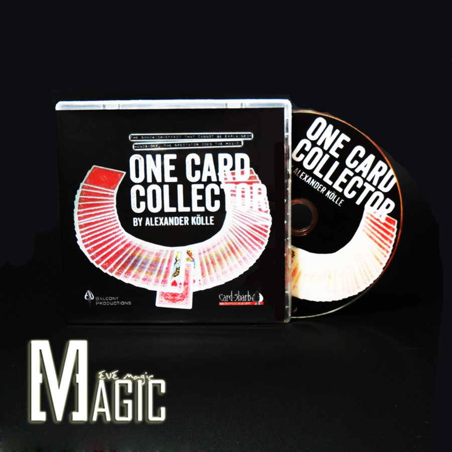 One Card Collector by Alexander Kolle and Card-Shark / professional close-up stage street CARD Magic Tricks products(China (Mainland))