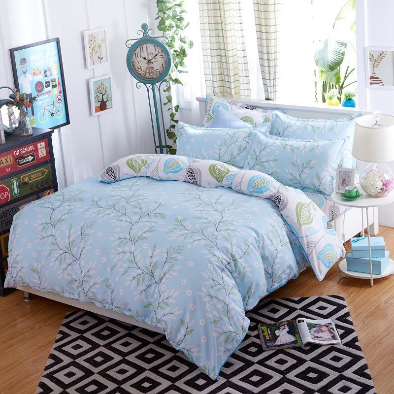 Morden bedding set 4pcs bedding housse de couette AB side bed sheet panther duvet cover set bed linens lemon fashion bed set(China (Mainland))