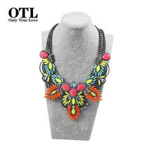 New Arrival 2016 Colorful Maxi Vintage Necklaces& Pendants Fashion Women Choker Statement Necklace Selfdom Jewelry Accessories(China (Mainland))