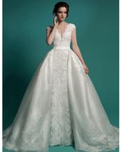 Buy Vestido De Noiva 2 Em 1 Long Bridal Gown Detachable Skirt Wedding Dress 2016 Vintage Lace Wedding Dresses Detachable Train for $203.15 in AliExpress store