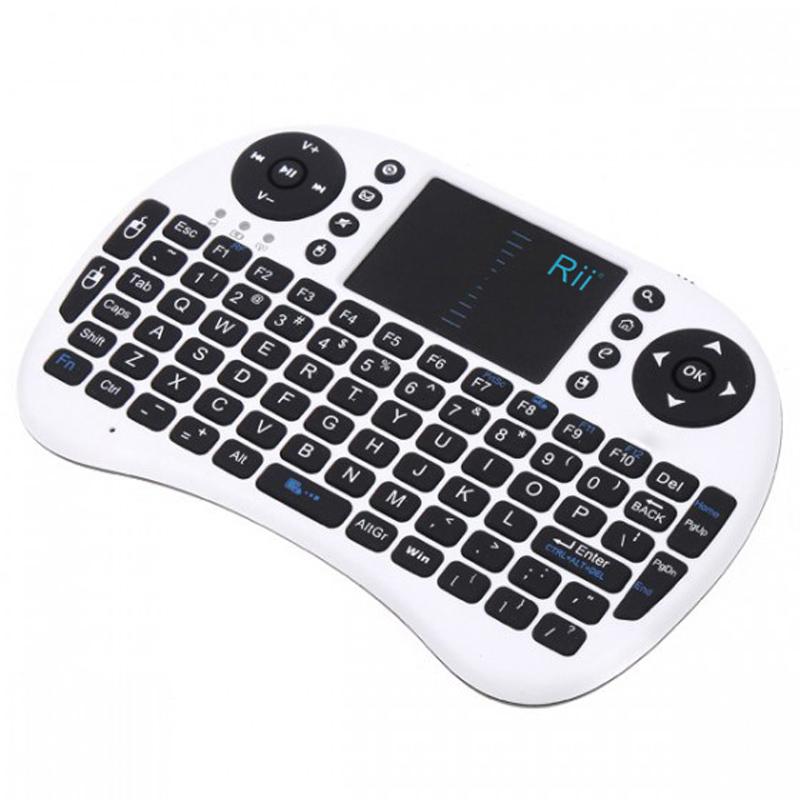 2.4G Rii Mini i8 Wireless Keyboard with Touchpad Handheld QWERTY keyboard for iPad/PC/Andriod Google TV Box/ Xbox360/PS3/Laptop(China (Mainland))
