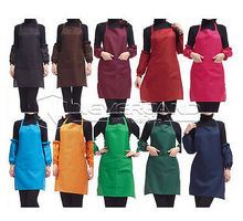 1 X New Women Lady Kitchen Restaurant Bib Cooking Aprons With Pocket Sanitary 5 colors Free shipping C10(China (Mainland))