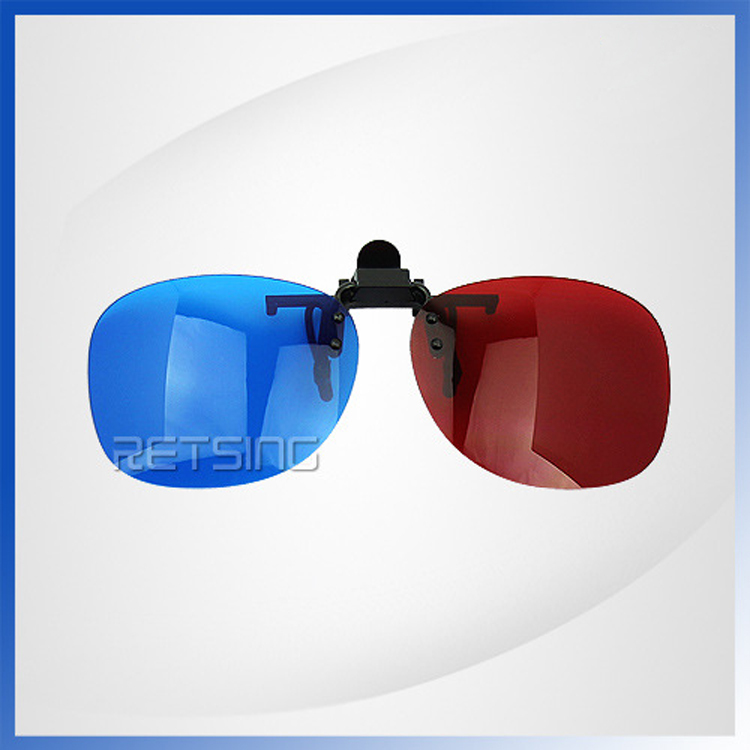 DRESSUUP Wholesale 3D Eyeglasses Clip On 3D Glasses Home Cinema Movie Film TV Red And Blue Lens(China (Mainland))