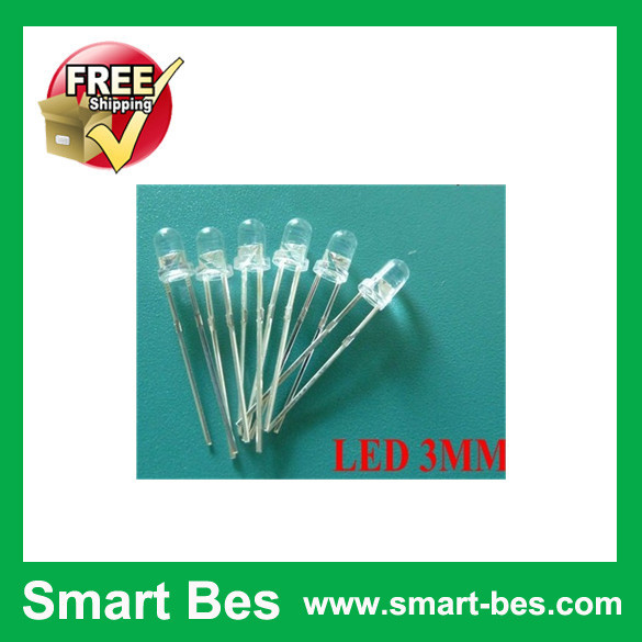 Free Shipping 500PCS/Lot ~Smart Bes 3MM Purple LED Super Bright Round Water Clear 3mm Round LED(China (Mainland))