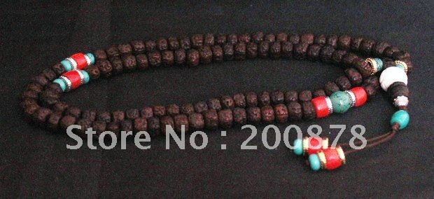 BRO966  Tibetan 108 beads Kingkong Bodhi mala,8mm,Turquoise coral Fine prayer beads rosary,low MOQ<br><br>Aliexpress