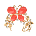Fashion Clear Crystal Rhinestone Gold Plated Chinese butterfly Brooch Pin Jewelry Women Brooches