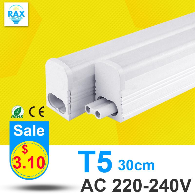 PVC Plastic 6W LED Tube T5 Light 220V 240V 30cm LED T5 Lamp Led Wall Lamp Cold White Led Fluorescent T5 Neon(China (Mainland))