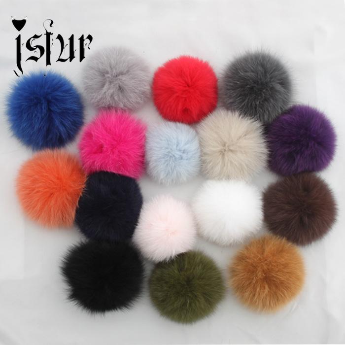 Wholesale 10Pcs/Lot Real Fox Fur Pompom Fur Hat With 12-13cm Fox Fur Ball Pom Pom Women Winter Hat And Cap Free Shipping(China (Mainland))
