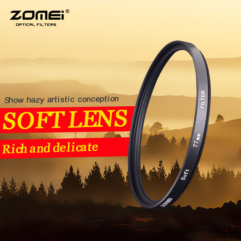 ZOMEI 72mm Soft Filter Special Effect Diffuser Lens Filter Soft Focus Dreamy Hazy Portrait for Nikon Canon Sony(China (Mainland))