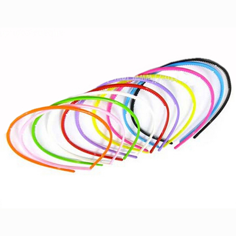 Women Plastic Hair Bands Simple Style Hair Hoops Teeth Candy Color Headbands(China (Mainland))