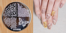1 Piece Hive Flower Pattern etc hehe 1 36 Series Nail Art Image Plate Stamper Stamping