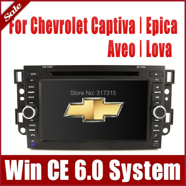 "7"" Car DVD Player for Chevrolet Lova Aveo Captiva Epica with GPS Navigation Radio TV BT USB SD AUX Audio Video Stereo Sat Nav"