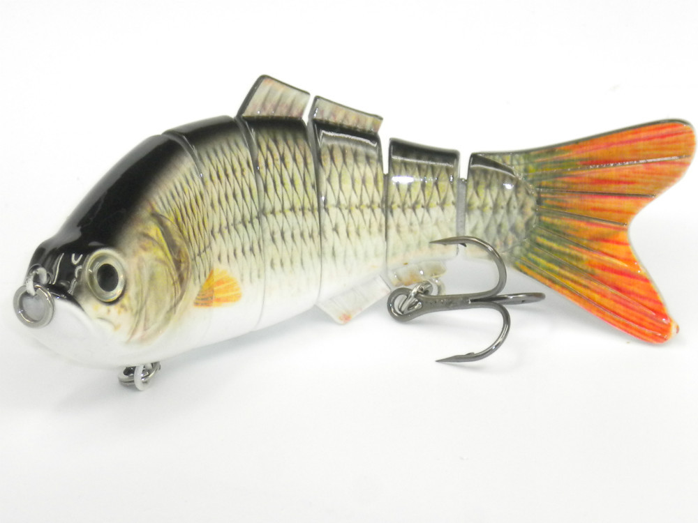 8 20cm multi jointed 6 sections fishing lure 3d eyescrank for Bass fishing kit