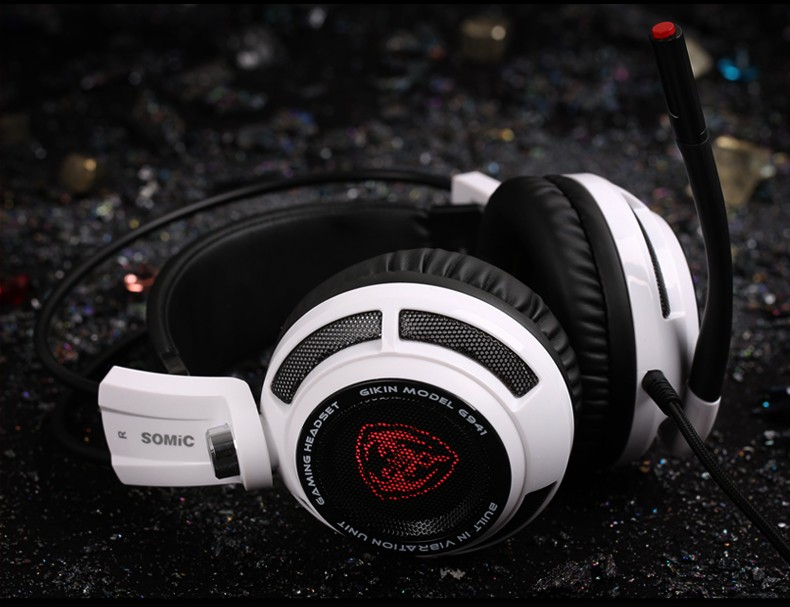 Somic G941 Professional Gaming Headset 7.1 Surround Sound Vibration Function USB Gaming Headphone for PC Gamer