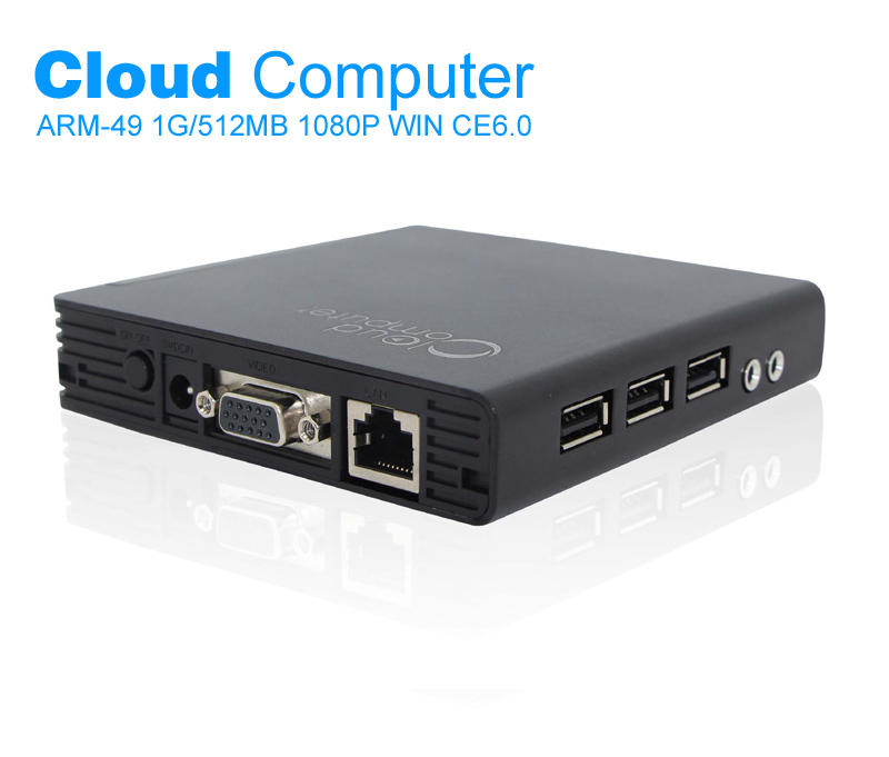 Alloy Case Cloud Computer FL200 Embedded Linux Mini PC Dual Core 1GHz CPU Remote Computer HDMI 1080P Movies Thin Client Terminal(China (Mainland))