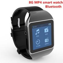 """New 8 GB montre smart watch Bluetooth MP4 lecteur de musique avec 1.5 """" écran tactile Bluetooth de soutien FM Pedo compteur horloge mondiale fonction(China (Mainland))"""