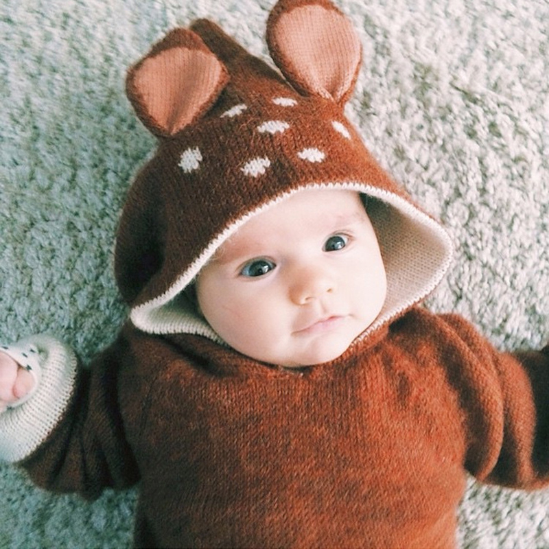 Baby Sudaderas For Girl Boy Clothes Winter 2015 Casual Oeuf Nyc Kids Knitwear Deer Jumper Cute Children Sweater Jacket Cardigan(China (Mainland))