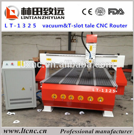 promotion price vacuum table wood furniture machinery/1325 wood cnc router(China (Mainland))