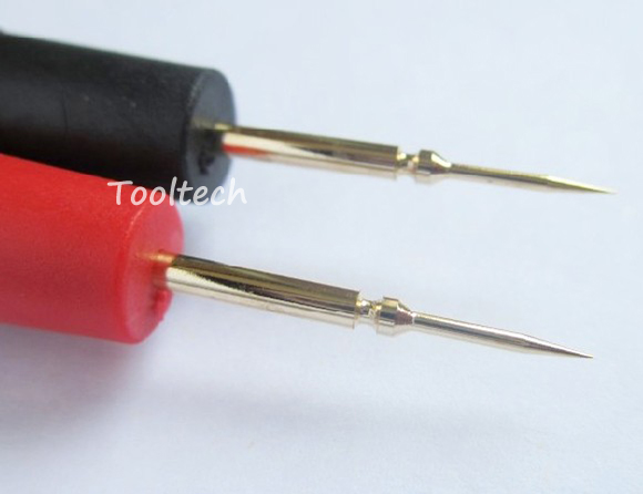 High Precision quality Ultra Pointed Gold Plated Copper 10A Multimeter Probes Test Leads Accessory for IC