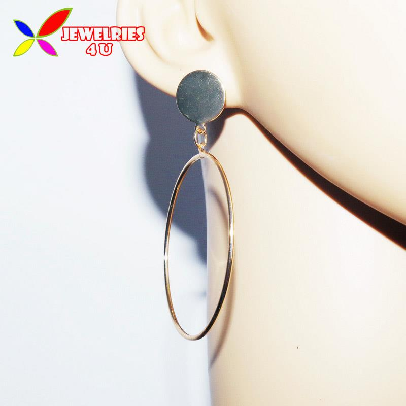 2016 Fashion Delicated Big Hollow Copper Metal Circle Cat Walk Show Females Hoop Earrings for Women joyas pendiente(China (Mainland))