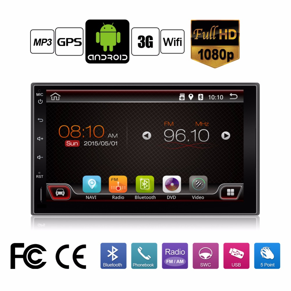 Universal 2 din Android 4.4 Car No-DVD player GPS+Wifi+Bluetooth+Radio+Dual Core+DDR3+Capacitive Touch Screen+3G+car pc+aduio(China (Mainland))