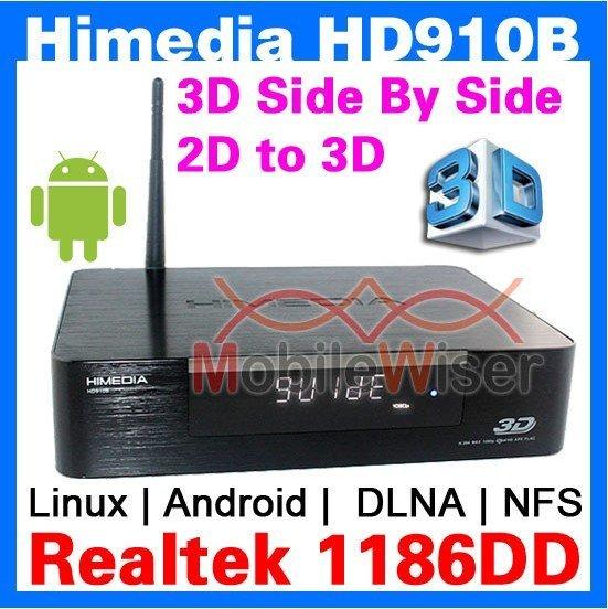 Himedia HD910B 3D Full HD 1080p HDMI 1.4 Blu-Ray ISO Media Player Realtek 1186