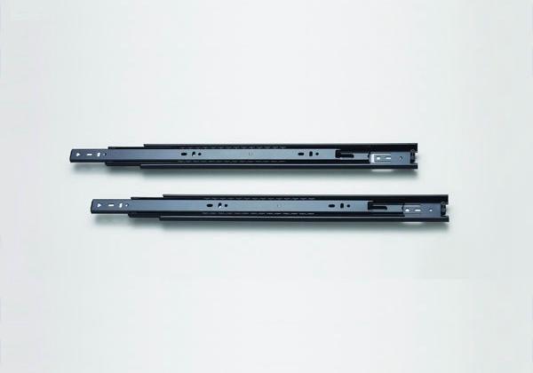 Mute track Furniture Hardware three rail track drawer slide ball F301 black zinc(China (Mainland))