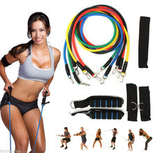 1 Type Fitness Equipment Resistance Bands Tube Workout Exercise Yoga Training Random Delivery(China (Mainland))