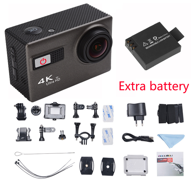 2016 Newest 4K F68 Wifi Voice Features Camera with 2 inch Sport Camcorders  Mini Waterproof  Sports HD DV+Exter Bag free shiping<br><br>Aliexpress