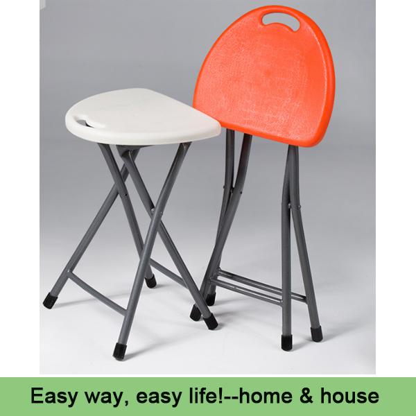 Fashion leisure portable folding stool stool minimalist home outdoor bench plastic stool folding chair white color(China (Mainland))