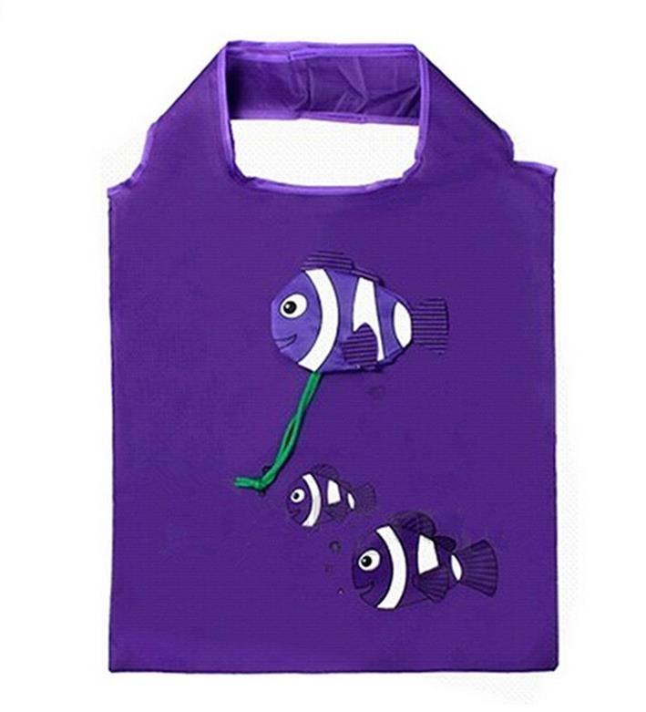 Home Storage Organization bags tote Tropical Fish Foldable Eco Reusable Shopping Bags cartoon Handle Bags Easter egg gift bag