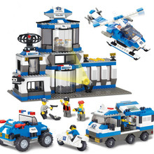 Sluban City Series SWAT Police Command Center Helicopters 3D Construction Building Blocks Bricks Compatible With Legoe