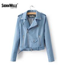SKINNWILL2017Моды весна новый кожаная куртка женщин кожаные куртки женские (China (Mainland))