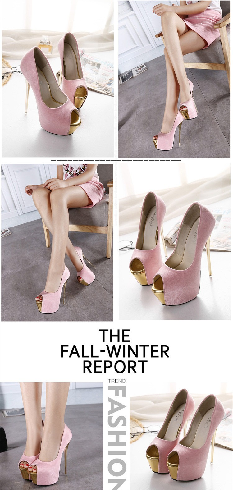 Size 4~9 Golden Black Party Women Shoes 16cm Summer High Heels Shoes Sexy Women Pumps zapatos mujer (Check Foot Length)