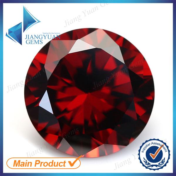 50pcs 5A 0.8-6.0mm Garnet Color Loose Cubic Zirconia CZ Stone Round Shape European Machine Cut Synthetic Gemstone(China (Mainland))