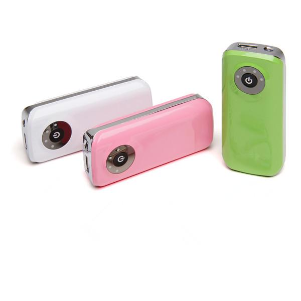 2016 new fashion led light portable phone charger power bank 5600(China (Mainland))