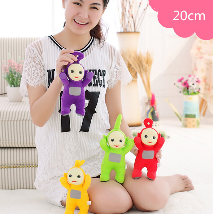 """4pcs/lot 8"""" 20cm Authentic Teletubbies Plush Toy Stuffed Doll Super Quality Children Christmas Birthday Gift Free Shipping(China (Mainland))"""