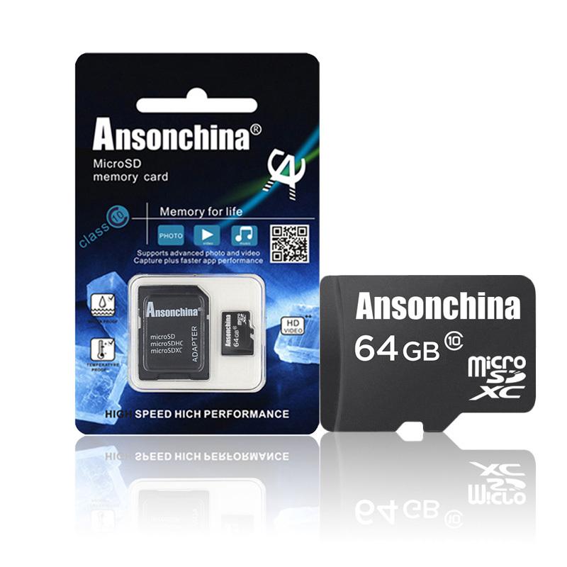 Pass H2testw! Black class10 Micro SD card 64gb memory card microsd flash card 64GB 8GB 16GB 32GB SDHC memory card pen drive(China (Mainland))