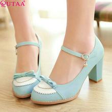 QUTAA Fashion Ladies Pu Leather Platform Women Pumps Dress Shoes Sexy High Heel Shoes Women's Wedding Shoes Size 34-45(China (Mainland))