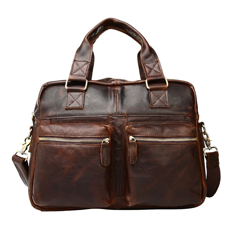 Guaranteed 100% Natural Genuine leather men briefcase Bags business travel bag men shoulder bags vintage men bags<br><br>Aliexpress
