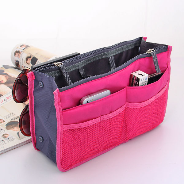 Fantastic Womens Cosmetic Makeup Bag Organizer Travel Insert Handbag BU  EBay
