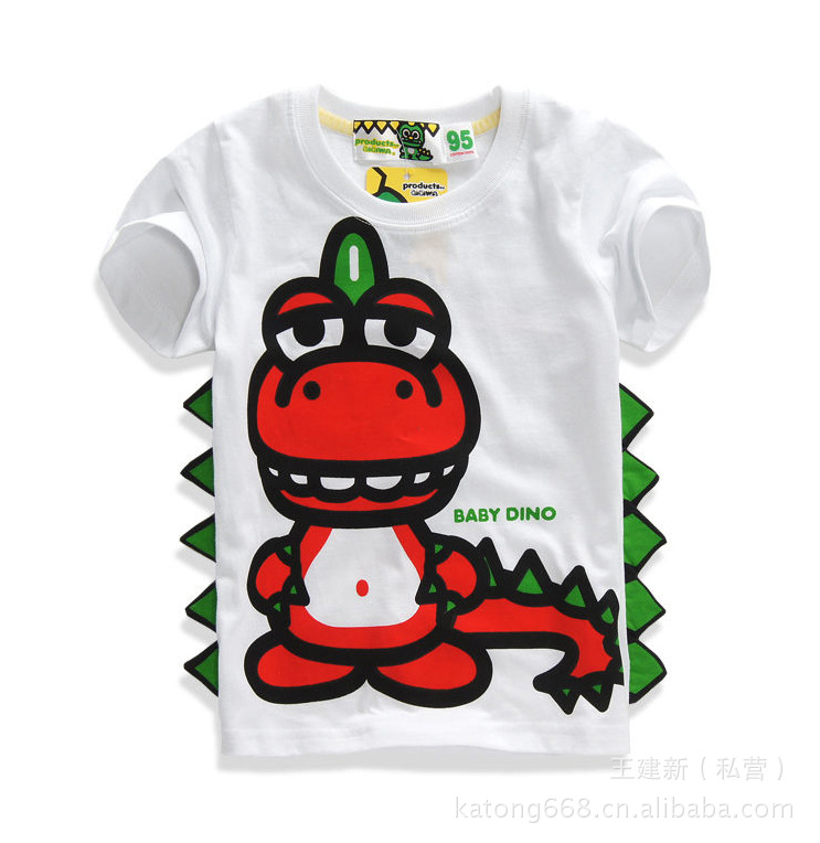 Childrens clothing red summer short-sleeve summer white casual t-shirt fh0003<br><br>Aliexpress