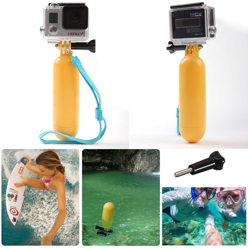 New Arrival Yellow Water Floating Hand Grip Handle Mount Float Accessory for Gopro Hero 4 3