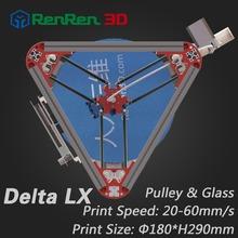 3 D Cheap Delta 3D Printer LX Auto Level Mini K800 Kossel Rostock Reprap Prusa 3D-Printer Machine Kit Injection parts Pulley(China (Mainland))