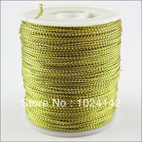 Free Shipping 2Roll Gold Metallic Cord Yards Each Perfect For Sewing Craft Embroidery 100m Wholesale(China (Mainland))