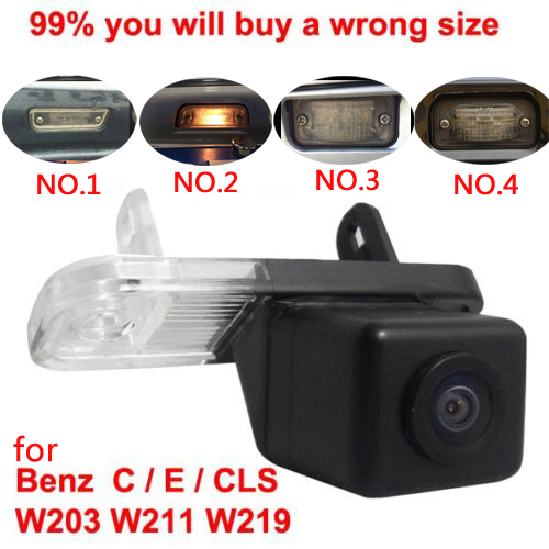 For CCD Mercedes Benz C Class W203 E Class W211 CLS Class W219 300 car Reverse rear view camera back up(China (Mainland))