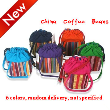 100g 6 Kinds of Chinese style Color Packing of Coffee Beans China Slimming Coffee Beans DarkRoasted
