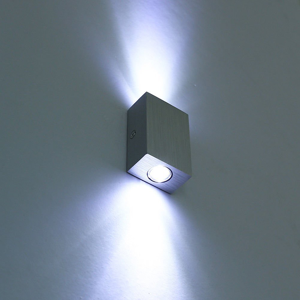Modern Led Wall Lamps : Modern 6w(2*3w) LED Wall Lamp Sconce Night Light Fixture Modern Design Up/Down AC85 265V Indoor ...