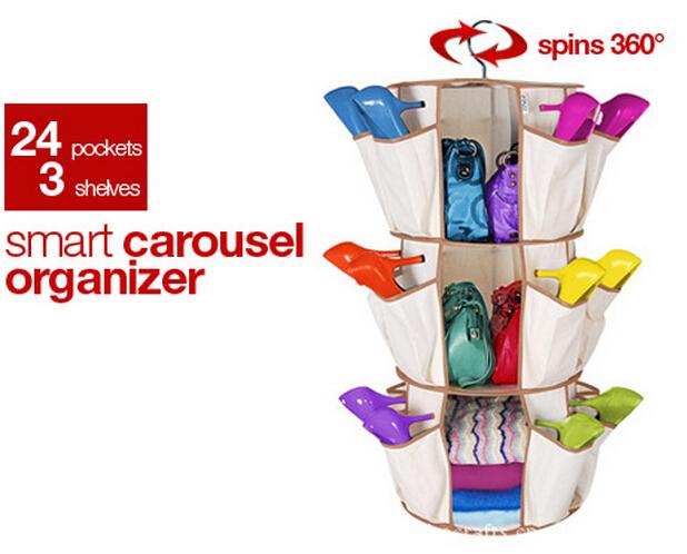 360 Spins Smart Shoes Organizer Shoes Holder Shoes Hanging Bag Shoes Hanger Hand Bag Holder(China (Mainland))